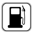 gas station sign vector image