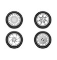 3d realistic black tyre with tread vector image vector image