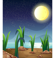 A bright fullmoon vector image vector image