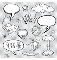 a set comic bubbles and elements with halftone vector image vector image