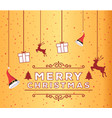 abstract merry christmas vector image vector image