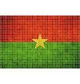 Abstract mosaic flag of Burkina Faso vector image vector image