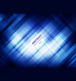 abstract striped blue grid pattern with lighting vector image vector image