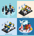 airplane passengers concept icons set vector image vector image