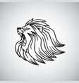 angry lion head roaring logo mascot design vector image vector image