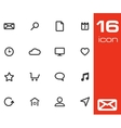 black universal icons set vector image