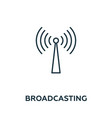 broadcasting icon symbol creative sign from vector image vector image