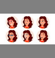 business avatar woman human emotions vector image vector image
