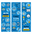 car and transport auto service center banners vector image vector image