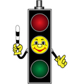 Cartoon yellow traffic light vector image vector image