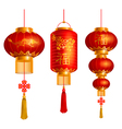 China lanterns vector image vector image