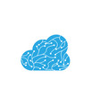 circuit cloud logo template vector image