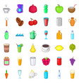 cold drink icons set cartoon style vector image vector image