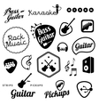 collection music and sound related elements vector image