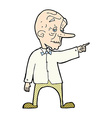 comic cartoon old man pointing vector image vector image