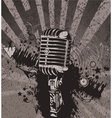 concert wallpaper with microphone vector image vector image