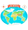 Continents Oceans on Map of World Our Planet vector image vector image