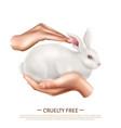 cruelty free design concept vector image vector image