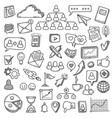 doodle social media sketch social networks vector image
