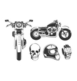 Elements for vintage motorcycle labels vector image vector image
