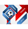 Euro Football Championship in France corporate vector image vector image