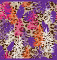 exotic floral background vector image