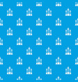 festive candles pattern seamless blue vector image vector image