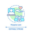 hospice care concept icon vector image vector image