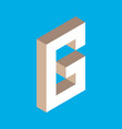 isometric letter g vector image vector image