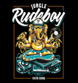 jungle rude boy ganesha art vector image vector image