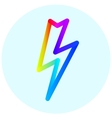 Lightning colorful icon in circle vector image