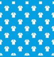 men polo shirt pattern seamless blue vector image vector image