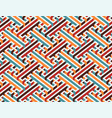 multicolor geometric maze seamless pattern vector image