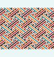 multicolor geometric maze seamless pattern vector image vector image