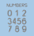 nautical rope numbers vector image vector image