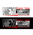 new york city typography slogan for t shirt vector image vector image