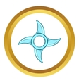Ninja Shuriken star weapon icon vector image vector image