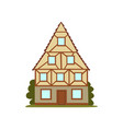 old house retro architecture city building vector image vector image