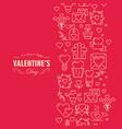 original valentines day postcard vector image