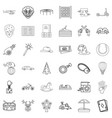 park icons set outline style vector image vector image