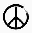peace symbol hand drawn brush vector image