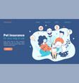 pet insurance family concept with beloved dog vector image vector image