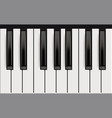 piano keys realistic musical instrument for jazz vector image