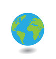 planet earth icon flat planet earth icon vector image vector image