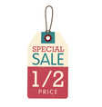price tag special sale 1 2 price image vector image vector image