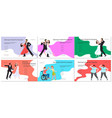 promotional banner with couple dancing vector image vector image