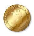 realistic 3d golden bitcoin coin vector image vector image