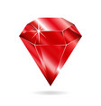 ruby gemstone vector image vector image