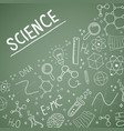 science day blackboard doodle greeting card vector image