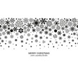 seamless snowflake header white background vector image vector image